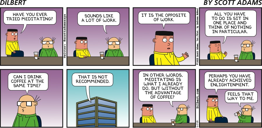 Asok Meditates  - Dilbert by Scott Adams