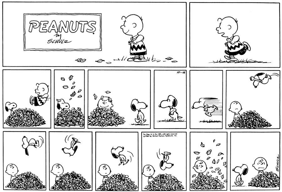 Peanuts Comic Strip for October 16, 1966
