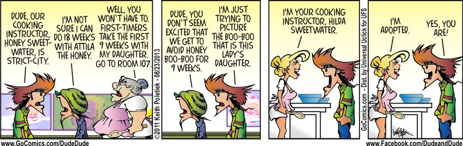 Dude and Dude for Aug 23, 2013 Comic Strip
