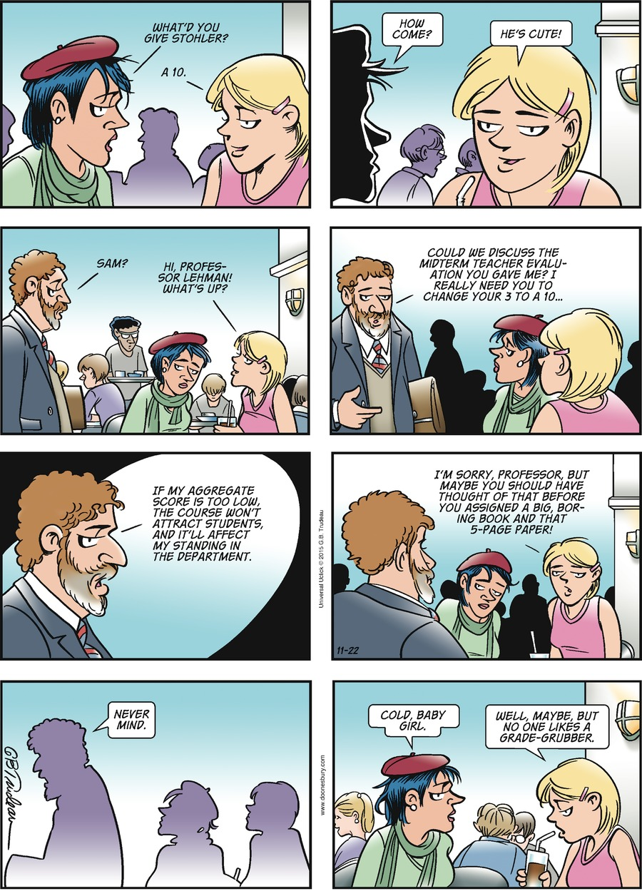 Doonesbury Comic Strip for November 22, 2015