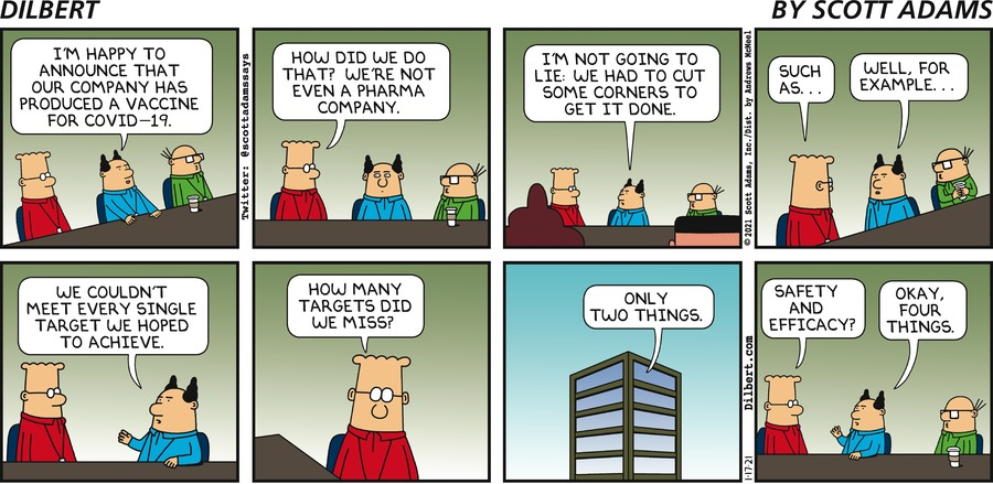 Vaccine - Dilbert by Scott Adams