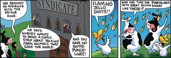 2 Cows and a Chicken Comic Strip for December 12, 2017