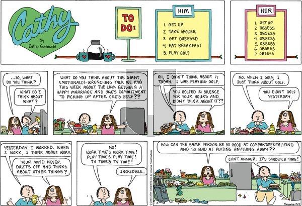 Cathy Classics on Sunday August 24, 2008 Comic Strip