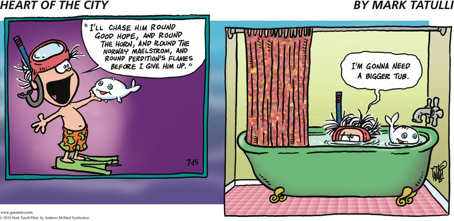 Heart of the City Comic Strip for July 15, 2018