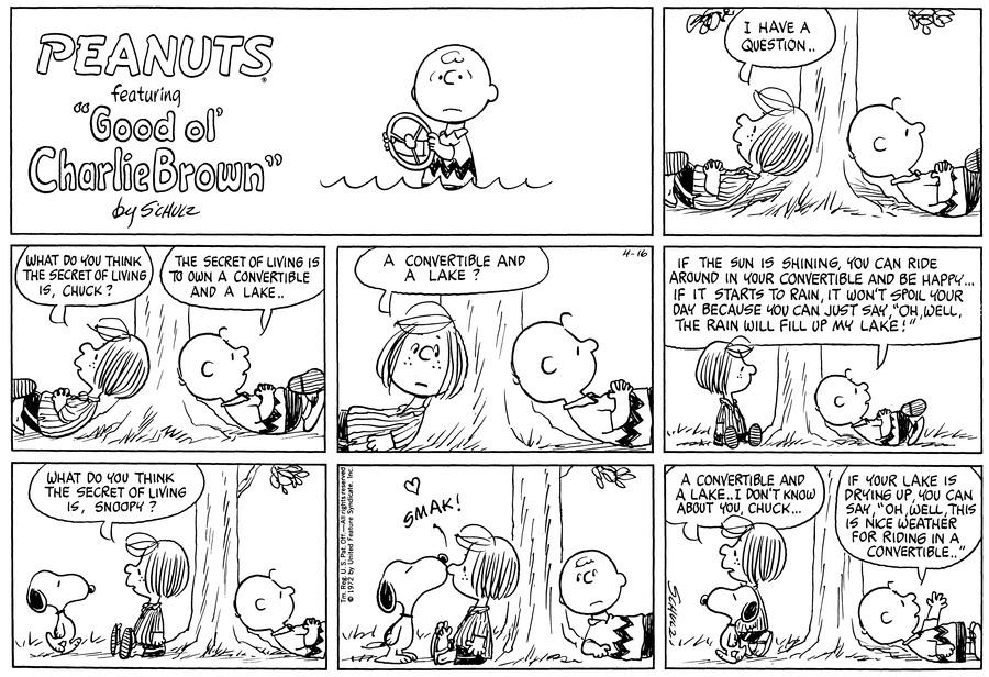Peanuts Comic Strip for April 16, 1972