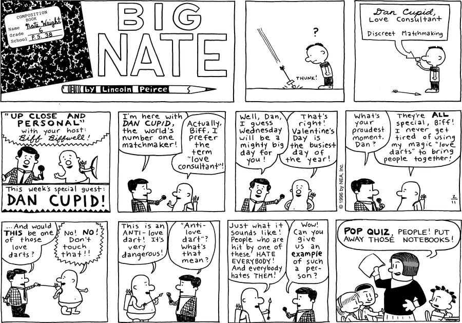 Big Nate Comic Strip for February 11, 1996