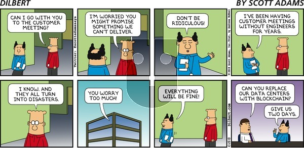 Dilbert on Sunday October 28, 2018 Comic Strip