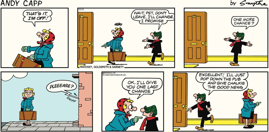 Andy Capp Comic Strip for December 15, 2019