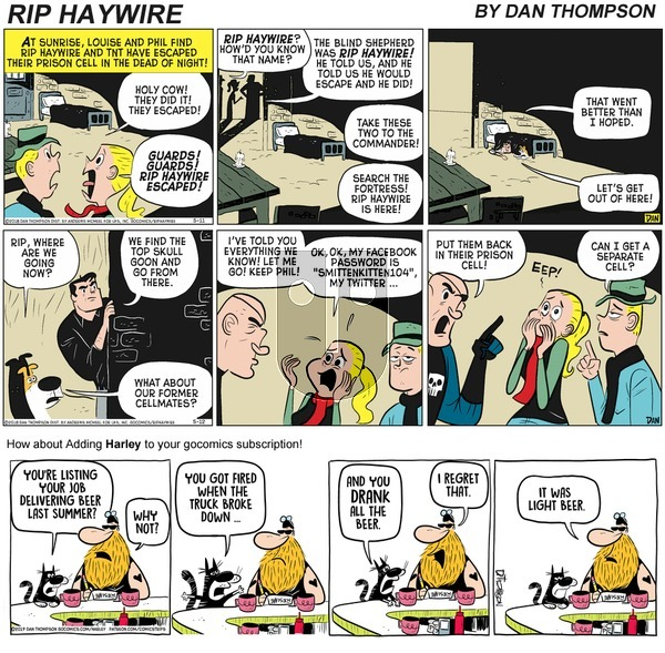 Rip Haywire on Sunday September 27, 2020 Comic Strip