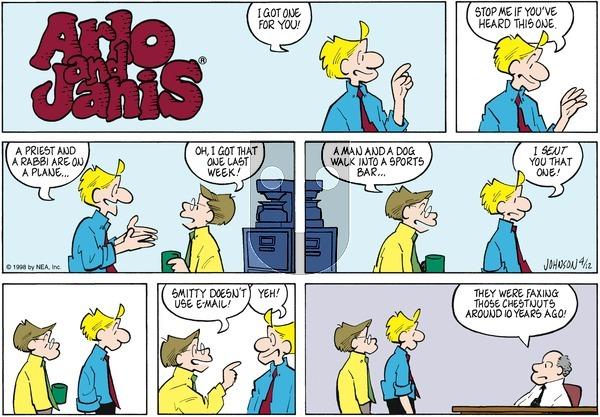 Arlo and Janis on Sunday April 12, 1998 Comic Strip