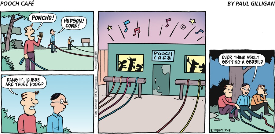 Pooch Cafe Comic Strip for July 05, 2015