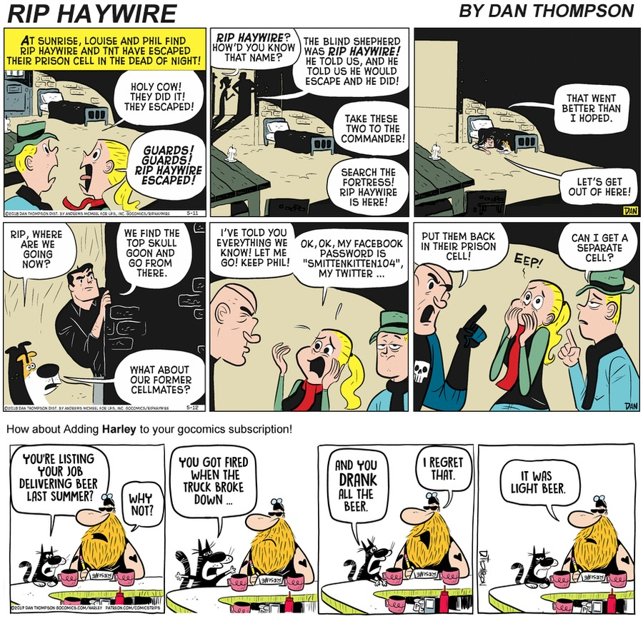 Rip Haywire Comic Strip for September 27, 2020