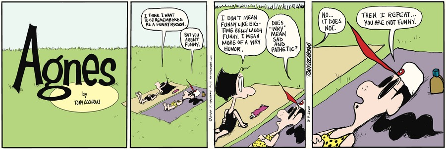 Agnes Comic Strip for August 09, 2020