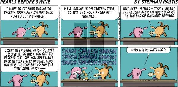 Pearls Before Swine on Sunday November 6, 2016 Comic Strip