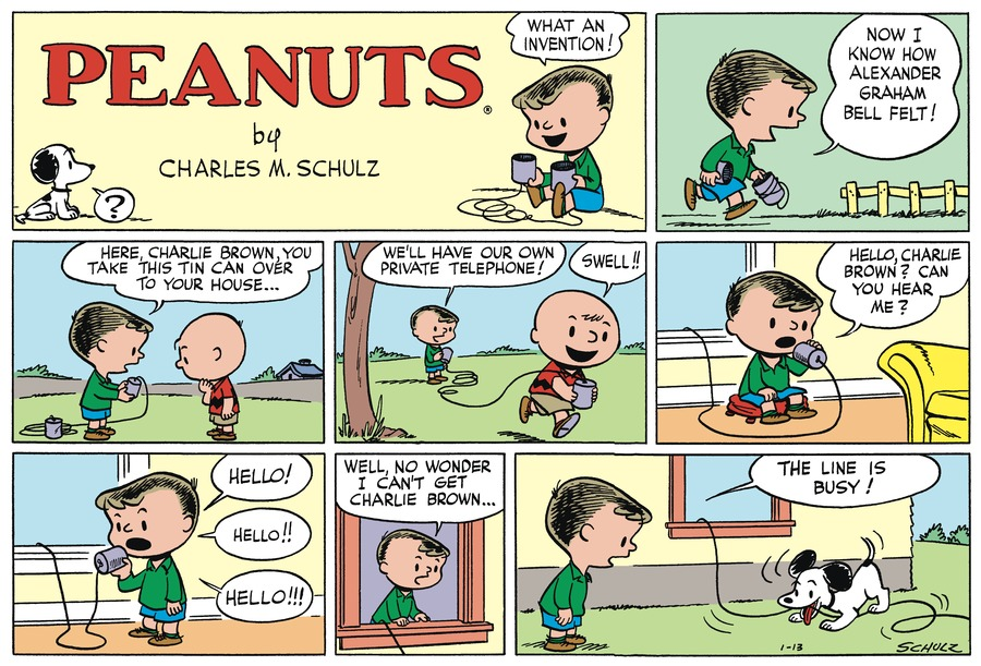 Peanuts Begins Comic Strip for January 12, 2020