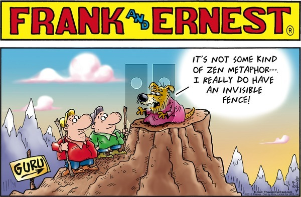 Frank and Ernest on Sunday August 9, 2015 Comic Strip