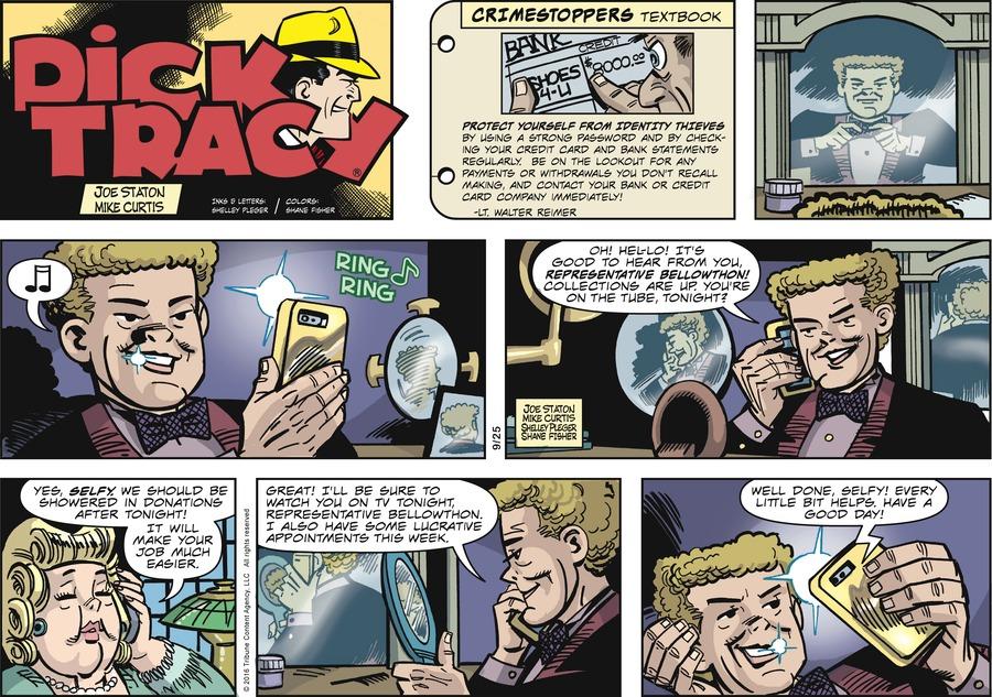 Dick Tracy Comic Strip for September 25, 2016