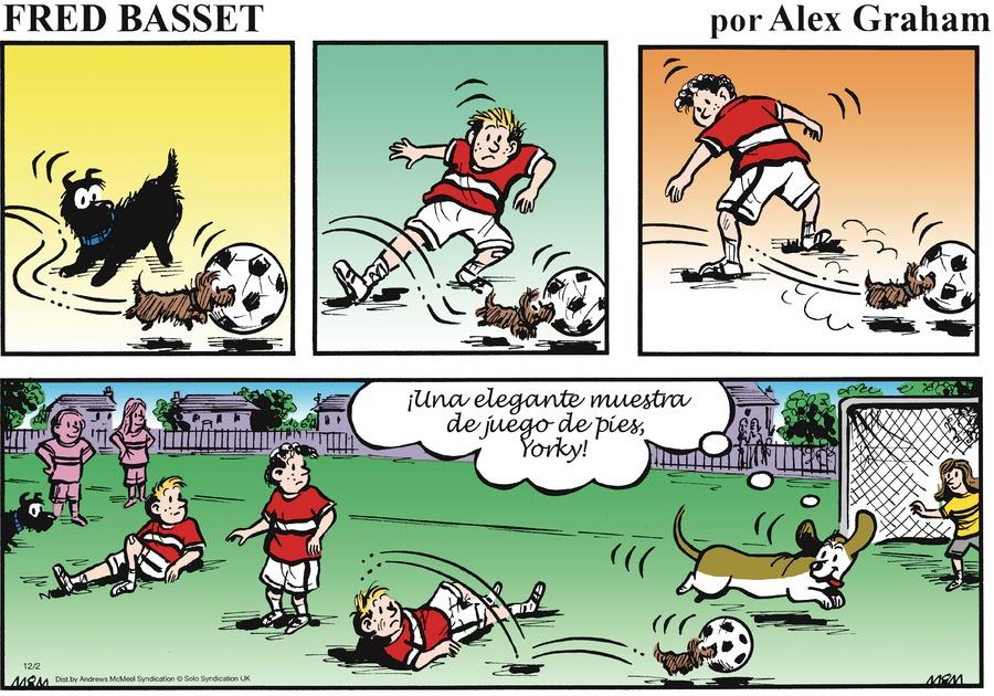 Fred Basset en Español by Alex Graham for December 02, 2018