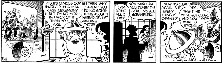 Alley Oop Comic Strip for September 06, 1954