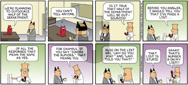 Dilbert - Sunday April 22, 2007 Comic Strip