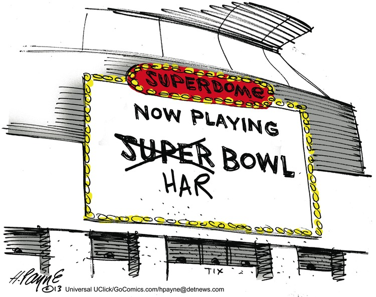 Superdome  Now playing  Super bowl  Har