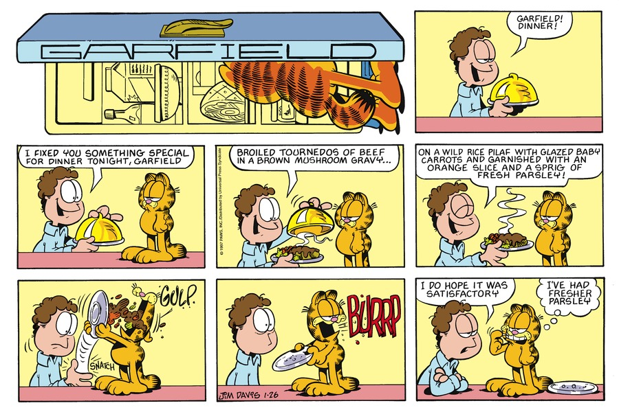 Garfield Comic Strip for January 26, 1997