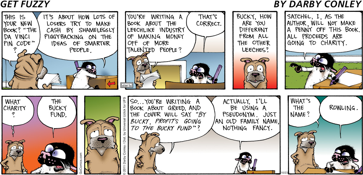Get Fuzzy for Oct 23, 2011 Comic Strip