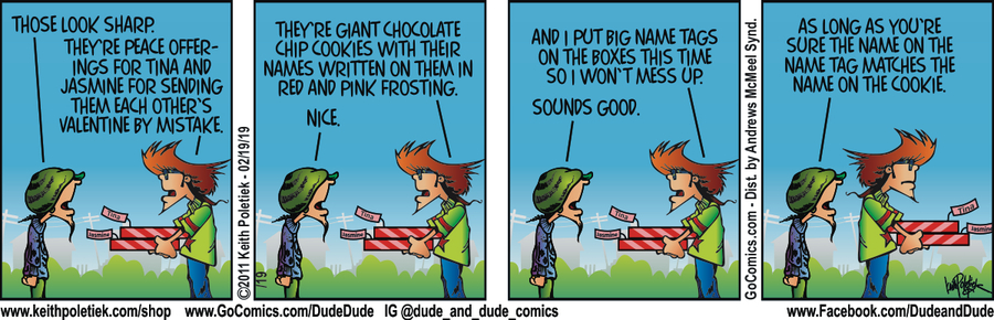 Dude and Dude Comic Strip for February 19, 2019