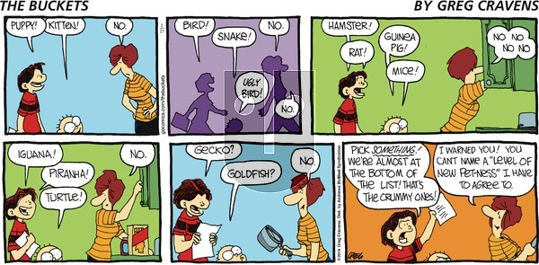 The Buckets on Sunday January 27, 2019 Comic Strip