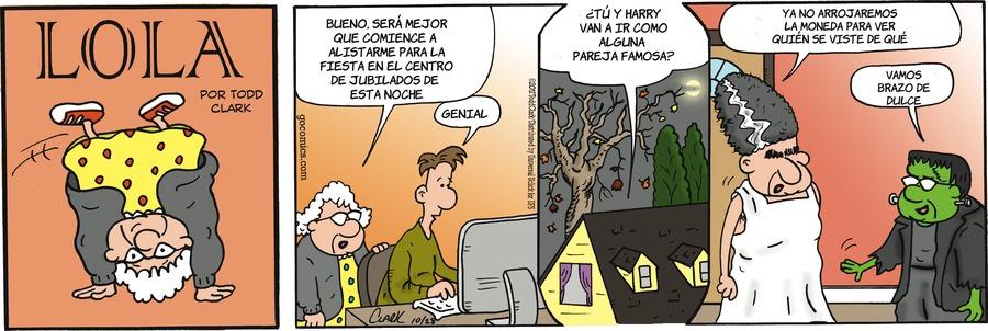 Lola en Español Comic Strip for October 28, 2012
