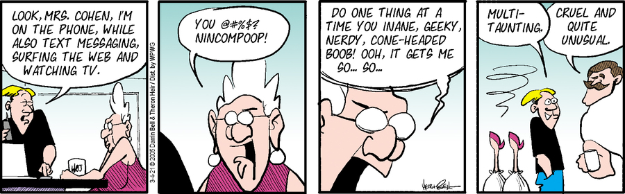 Rudy Park Comic Strip for March 04, 2021