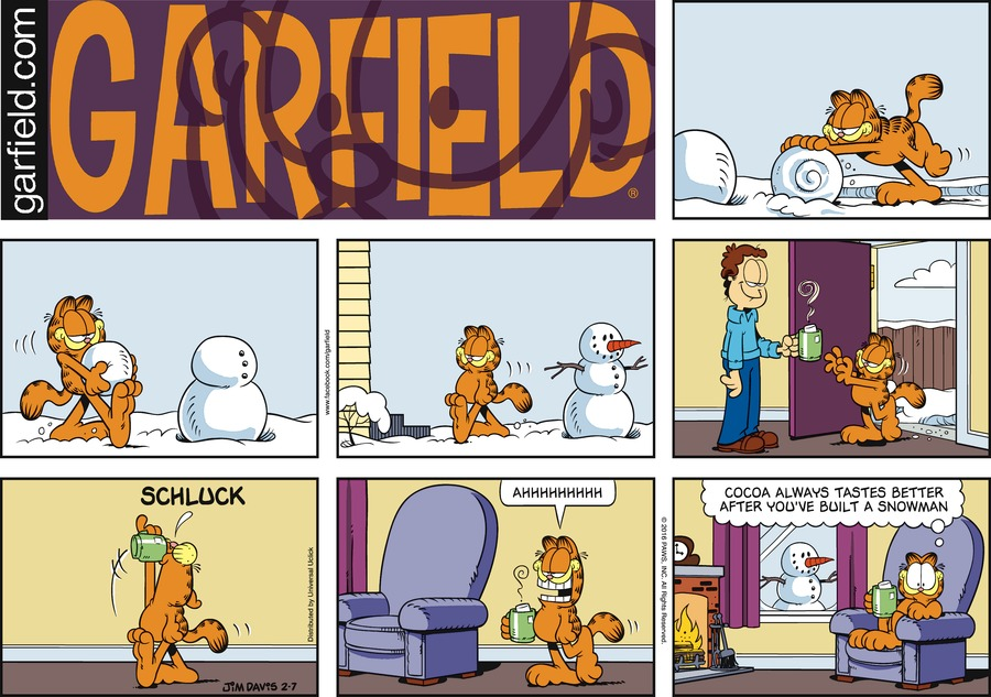 Garfield Comic Strip for February 07, 2016