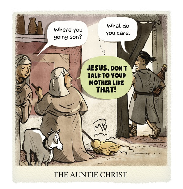 Jesus takes a walk