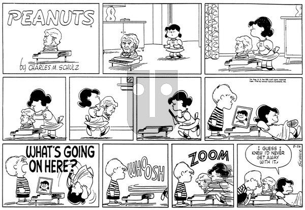 Peanuts on Sunday August 26, 1956 Comic Strip