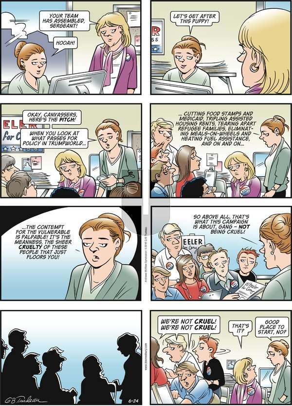 Doonesbury on Sunday June 24, 2018 Comic Strip