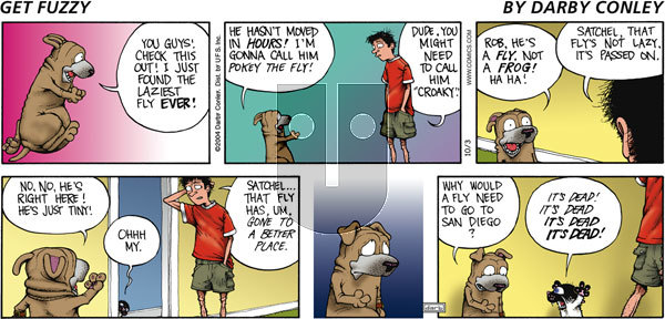 Get Fuzzy on Sunday October 3, 2004 Comic Strip