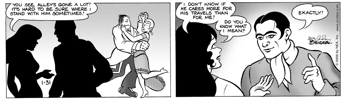 Alley Oop for Jan 31, 2006 Comic Strip