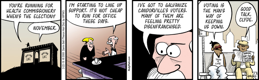 Rudy Park Comic Strip for February 22, 2019