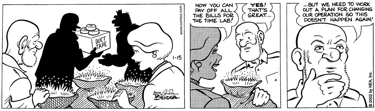 Alley Oop for Jan 15, 2002 Comic Strip