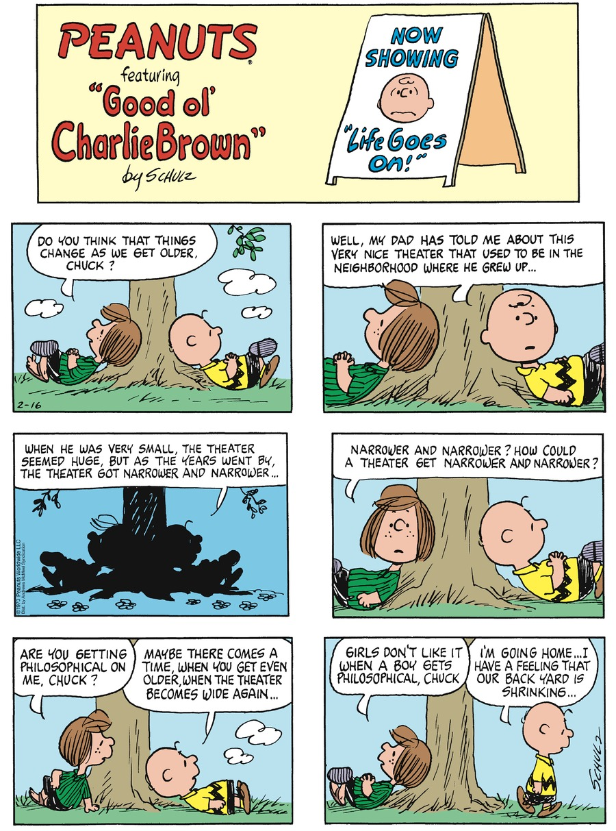 Peanuts Comic Strip for February 16, 2020