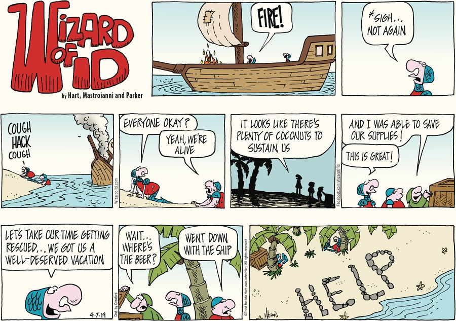 Wizard of Id Comic Strip for April 07, 2019