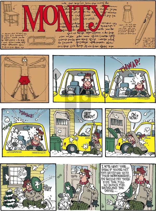 Monty on Sunday January 26, 2020 Comic Strip