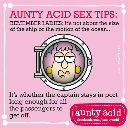 Aunty Acid by Ged Backland for September 16, 2019