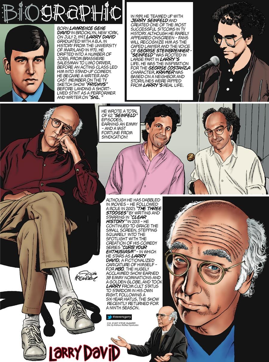 Biographic Comic Strip for November 12, 2017
