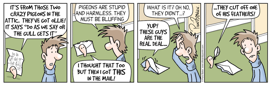 Ollie and Quentin Comic Strip for April 08, 2021
