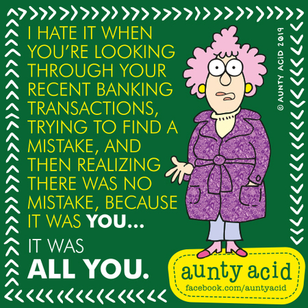 Aunty Acid by Ged Backland for September 01, 2019