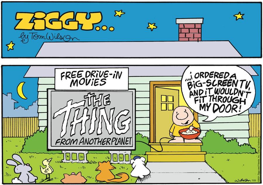 Ziggy Comic Strip for July 25, 2021