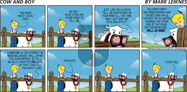 Cow and Boy Classics on Sunday October 12, 2008 Comic Strip