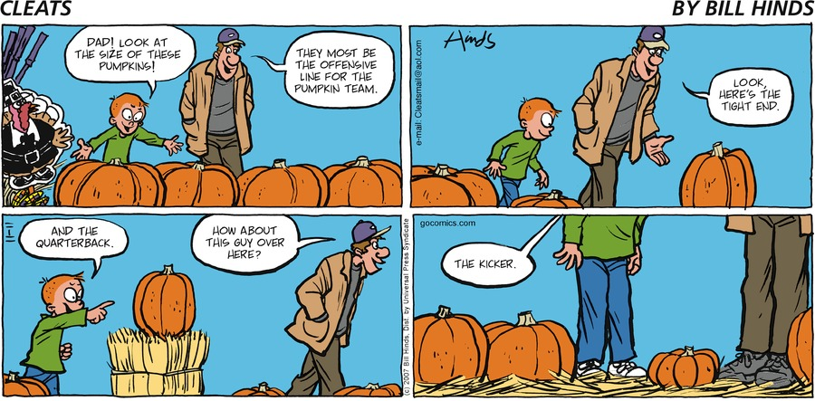 Cleats Comic Strip for November 11, 2007