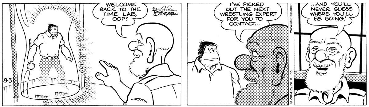 Alley Oop for Aug 3, 2004 Comic Strip